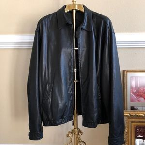 Vintage genuine leather jacket XL
